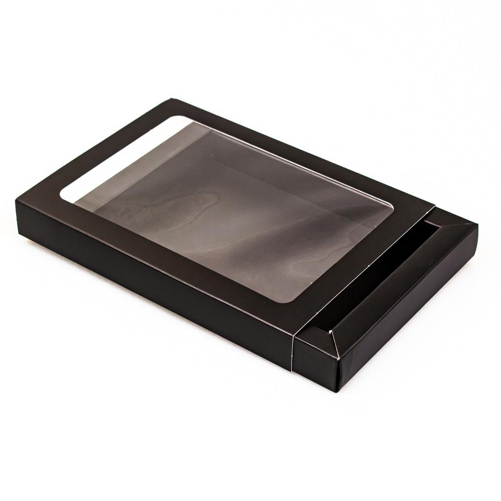 Schachtel Mattschwarz mit Hülse - 175 * 120 * 27 mm