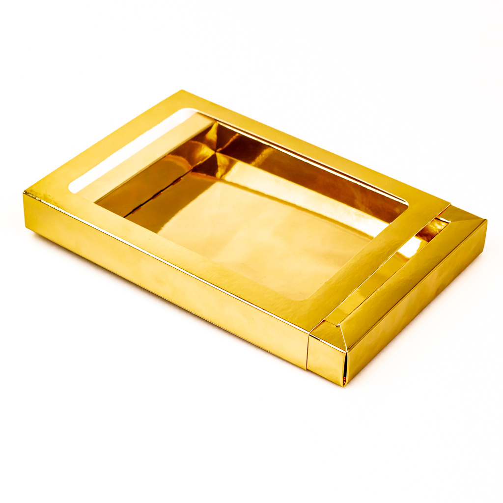Boîte Or avec pochette - 175 * 120 * 27 mm