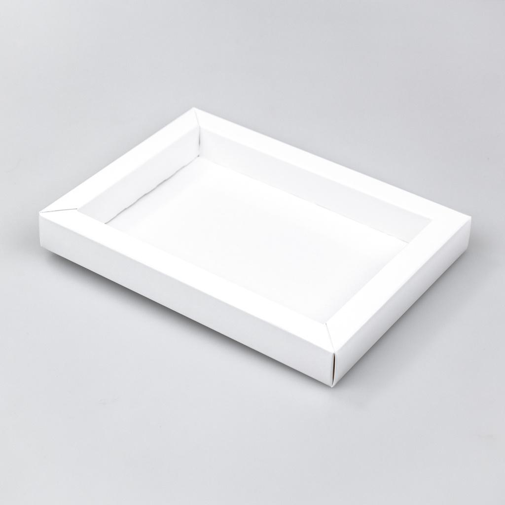 Boîte Blanc avec pochette - 175 * 120 * 27 mm