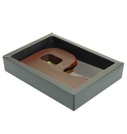 Matt Black box with transparant lid