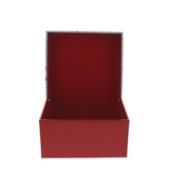 """St. Nicholas """"Vintage""""  Schachtel quadratisch mit Deckel Mittel  - 62*130*127mm - 10 Stück"""