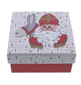 """St. Nicholas """"Vintage"""" Schachtel quadratisch mit Deckel Mittel"""