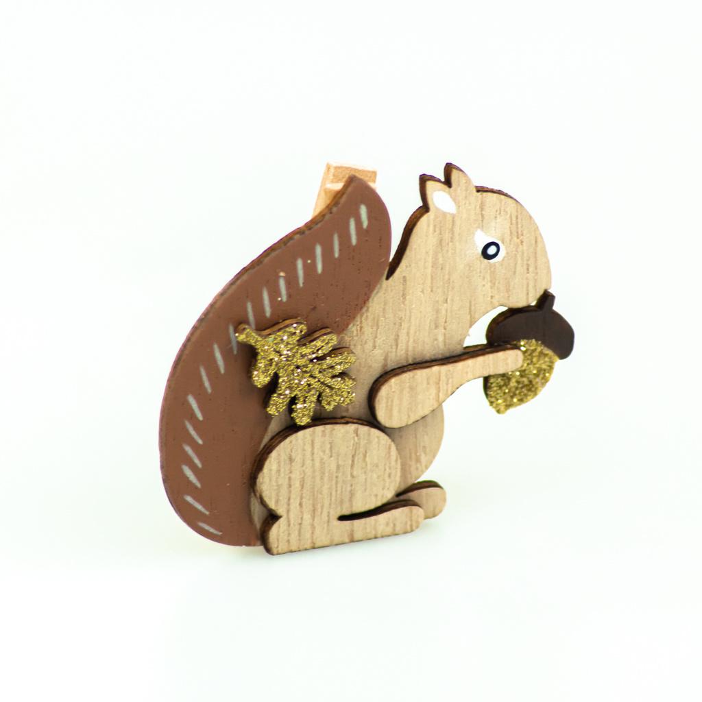 """Falling in Leaves"" Eichhörnchen klammer -  44*55*13 mm  - 36 Stück"
