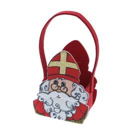 """Saint Nicholas """"Vintage""""  Basket with handle medium"""