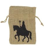 """Jute bag """"Sinterklaas"""" - 170*120 mm - 10 pieces"""