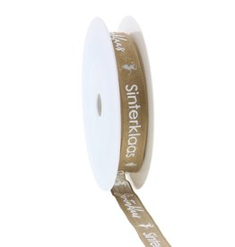 "Wired ribbon Saint Nicholas ""Vintage"" puff - Gold"