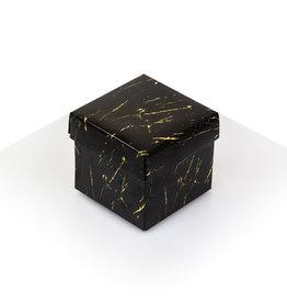 Cubebox - Zwart met goud marmer look