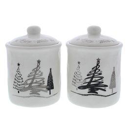 """Tree-O"" jar with lid"