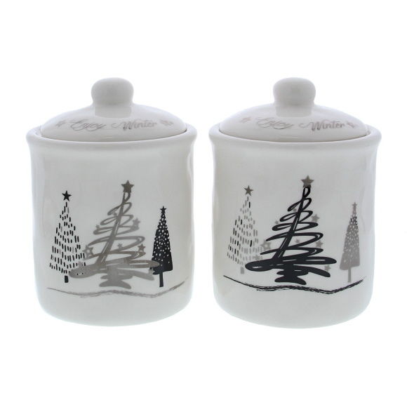 """""""Tree-O"""" jar with lid    -  130*93*93 mm - 4 pieces"""