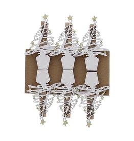 """""""Tree-O"""" klammer Weiß mit Gold"""