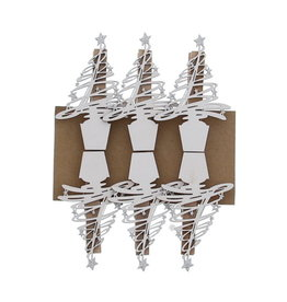 """""""Tree-O"""" clip White with Silver"""