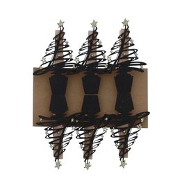 """""""Tree-O"""" clip Black with Gold"""