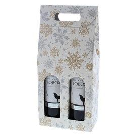"""Boîtes pour 2  bouteilles """"Crystal"""" Blanc"""