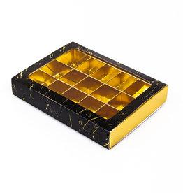 Boîte or avec interiéur pour 15 praline s