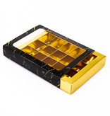 15 vaks doosje goud met marmer sleeve  - 175*120*33mm - 50 stuks