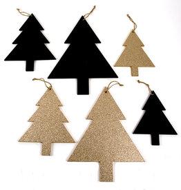"""""""Pines"""" Pin deco pendentif - Noir et Or"""