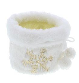 """Korb """"Plush"""" mit Eiskristallen Gold Klein"""