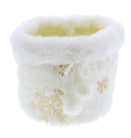 "Basket ""Plush"" with icecrystals Gold Medium"