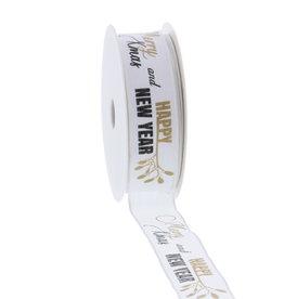 """Wired ribbon """"Mistletoe"""" 25mm"""