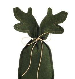 REINDEER flache Tasche - Dunkelgrün