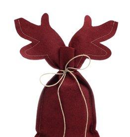REINDEER flache Tasche - Warmes Rot