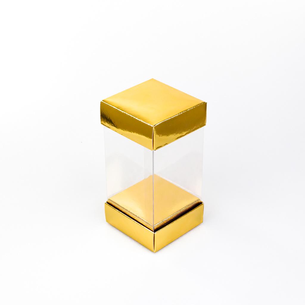 Transparante hohe Box - Gold - 25 Stück