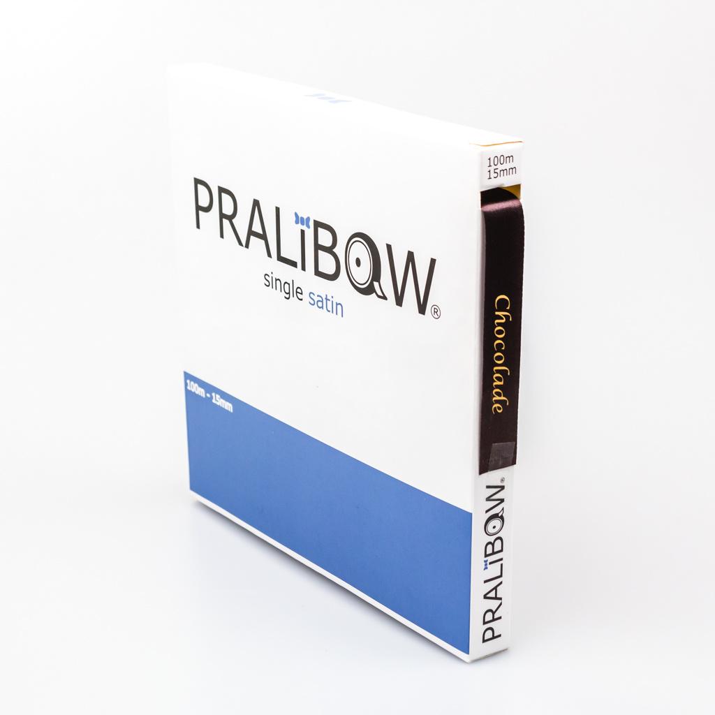 """Single satin """"Chocolade"""" Ribbon - Brown - 15 mm - 100 m"""