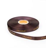 "Single satin Cinta ""Chocolade"" - Marrón - 15 mm - 100 m"