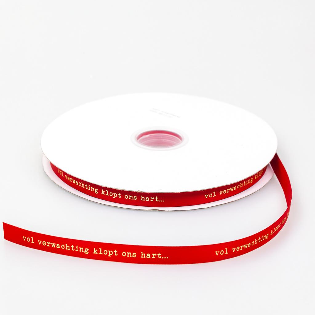 Satin Smachtend lint - Red 12mm - 100m
