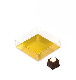Transparant doosje 90 * 90 * 25 mm - 100 stuks