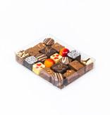 Transparanten Schachtel mit Goldkarton - 150 * 110 *25 mm - 50 Stück