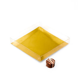 Transparant doosje  140 * 140 * 25 mm - 50 stuks