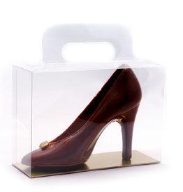 Transparant doosje met goudkarton en handvat - 180 * 75 * 150mm