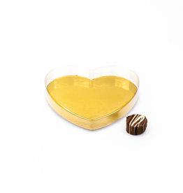 Corazón transparentes pvc - 130*130*20mm