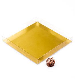 Transparanten Schachtel mit Goldkarton