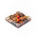 Boîte Transparant avec carton or - 120 * 120 * 30 mm  - 100 pièces