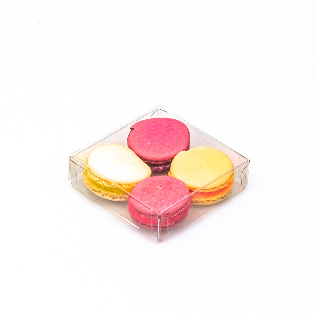 Caja transparantes - 90 * 90 * 25 mm - 100 unidades