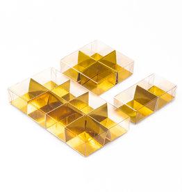 Transparanten Schachteln mit Fachteilung - 250 Stück