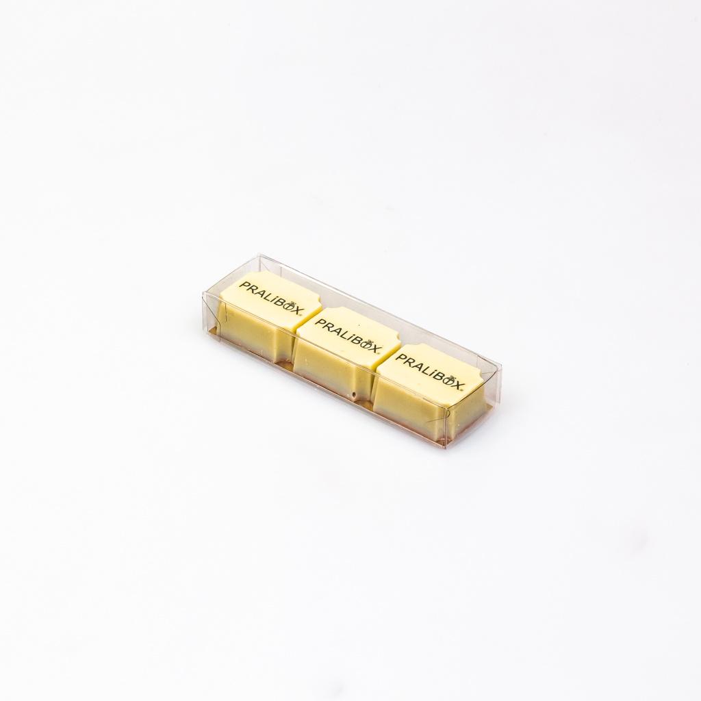 Transparanten Schachtel mit Goldkarton - 105 * 29 * 18 mm - 100 Stück