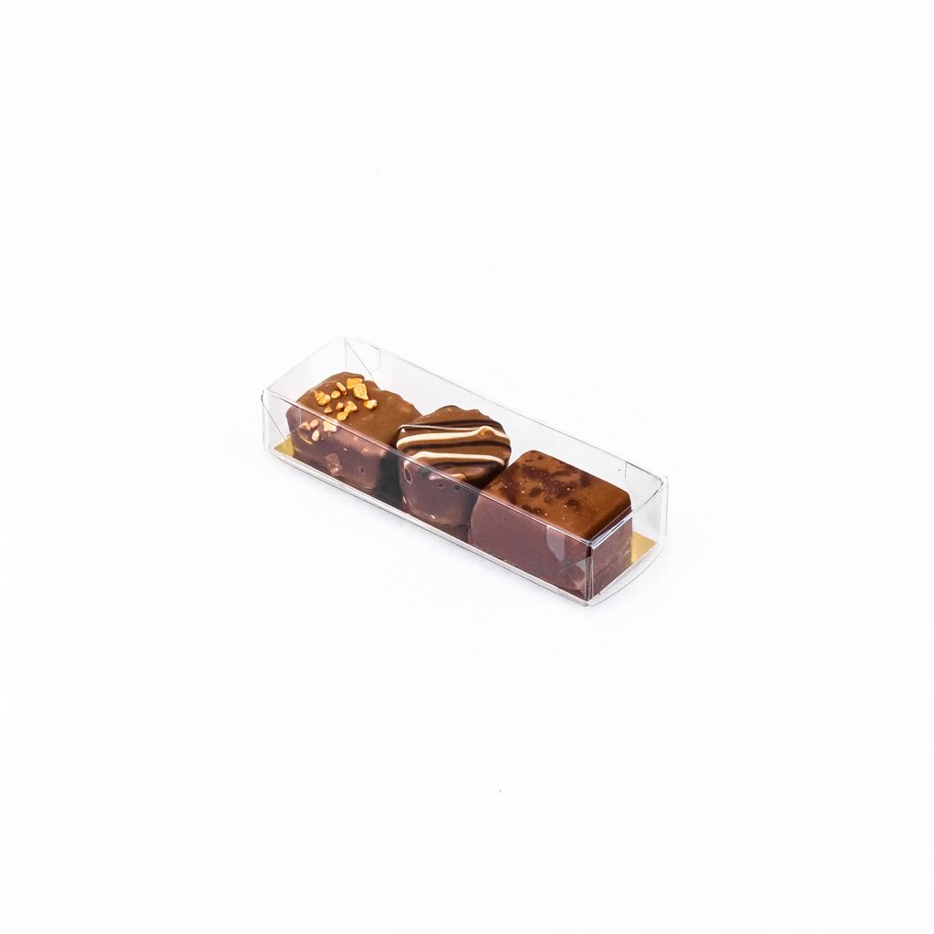Trüffelstangen mit Goldkarton - 10 * 3 * 2 cm - 100 Stück
