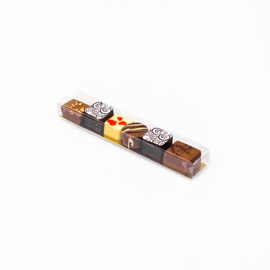 Cajas transparentes bombón trufado - 18 * 3 * 2 cm - 100 unidades