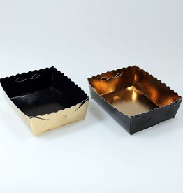 Pastry trays gold/black - 50 pieces
