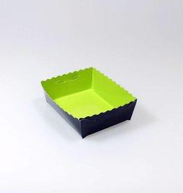 Gebäckschalen Limone/Schwarz - 50 Stück