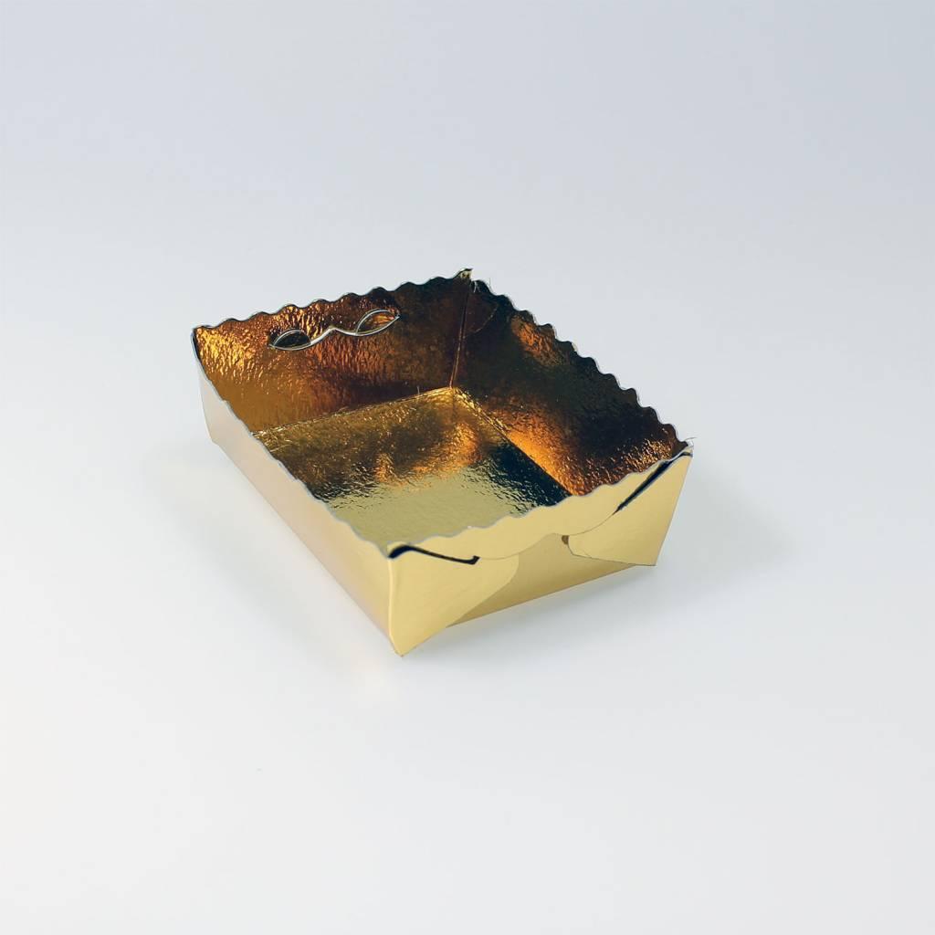 Gebäckschalen Gold - 100 Stück