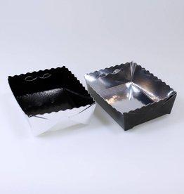Gebäckschalen Silber/Schwarz - 50 Stück