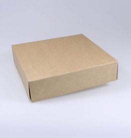 Patisserie doos kraft - 5 cm hoog