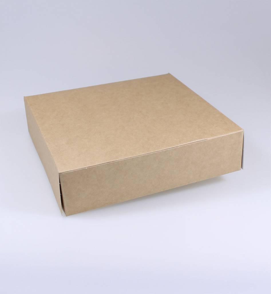 Boîte Pâtisserie kraft - hauteur 5 cm - 100 pièces