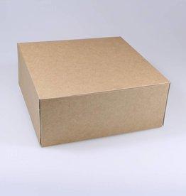 Patisserie doos kraft - 8 cm hoog