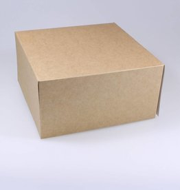 Patisserie doos kraft  - 10 cm hoog