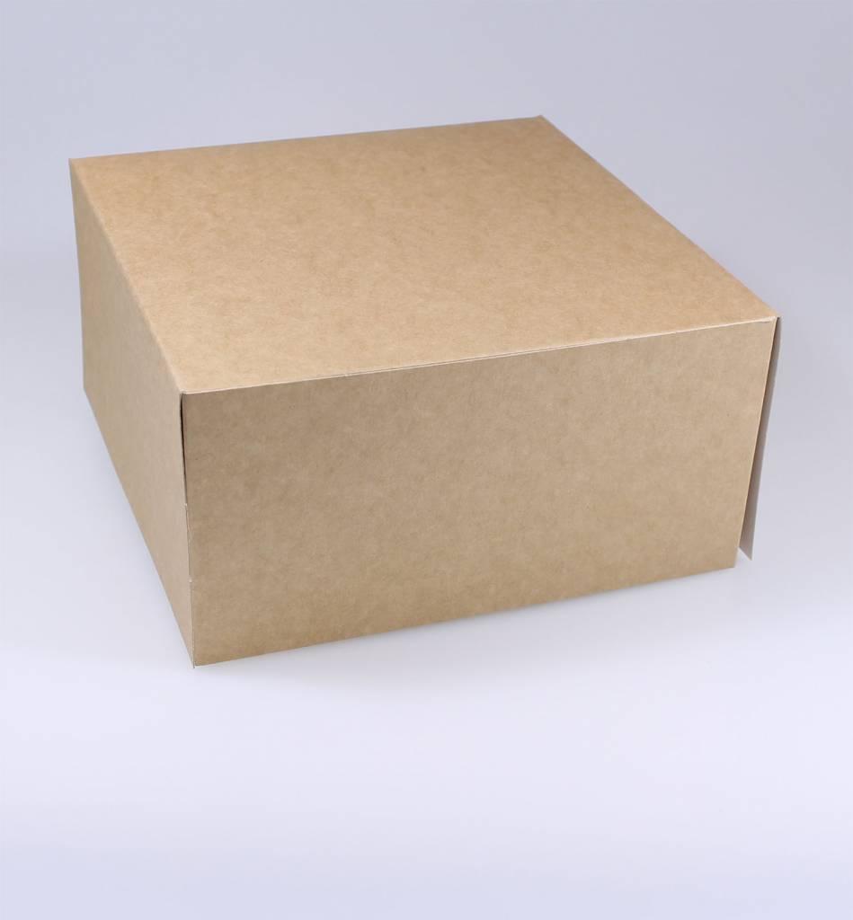 Patisserie doos kraft - 10 cm hoog - 100 stuks